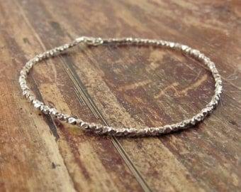 Womens Beaded Bracelet Womens Gift Hill Tribe Silver Bead Bracelet Delicate Bracelet Teen Girl Gift Simple Bracelet Girlfriend Gifts for Her