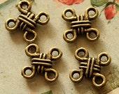 Last-Big SALE-50pcs Vintage Antique Bronze plated brass Charms/Pendants-(HAB-40)