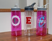 Sports Bottle Water Bottle monogram or personalize school logo discounts for orders of 4 or more