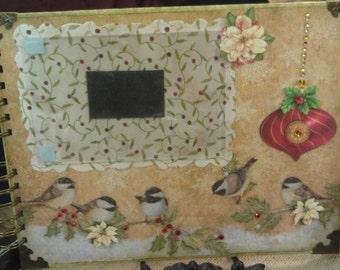 SALE!!! Christmas Memory Journal - Playful Birds