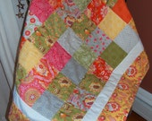 SALE, Baby Quilt, High Street By Moda, Patchwork Quilt