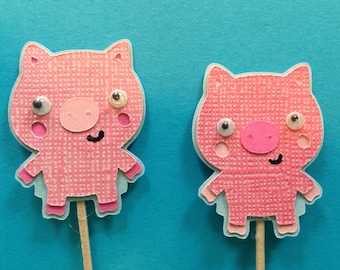 Piggy Cake Toppers
