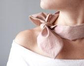 Women Neck Bow Tie Red White Stripes Retro Style Ladies Neck Scarf Collar pastel neck tie striped headband