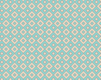 Moorish Rug in Aqua BA-308 - BAZAAR STYLE - Patricia Bravo for Art Gallery Fabrics - 1 Yard