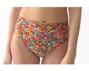 Sprinkles High Waist Swim Bottom