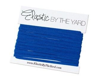 ROYAL BLUE Skinny Elastic for Baby Headbands 1/8 inch - 5 yards