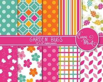 Garden Bugs Digital Paper