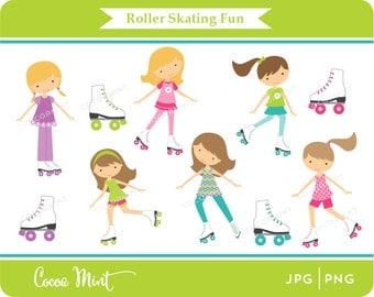 Roller Skating Fun Clip Art