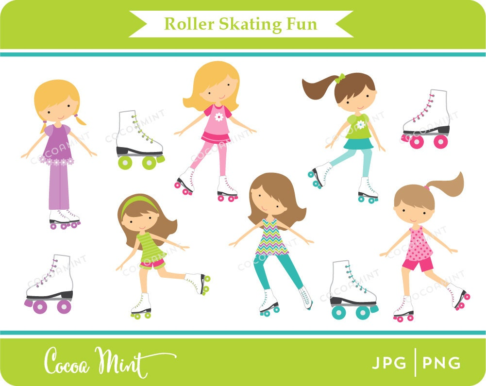 Roller Skate Party Clip Art Roller skating fun clip art