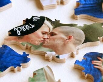 40 piece Wedding Guestbook Puzzle, guestbook alternative, wedding PHOTO puzzle guest book, Bella Puzzles™ modern wedding