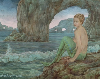 Allure Mermaid  and 8.5x11 Signed Print