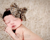 THE DIVA bling Baby headband, newborn headband, adult headband, child headband and photography prop, Leopard rhinestone bow headband