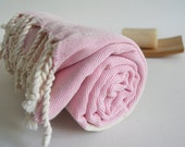 Shipping with FedEx - NEW Color Bathstyle Turkish BATH Towel Peshtemal - SOFT - Pink - Highly Water Absorbent