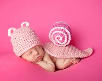Newborn Snail Baby Photo Prop