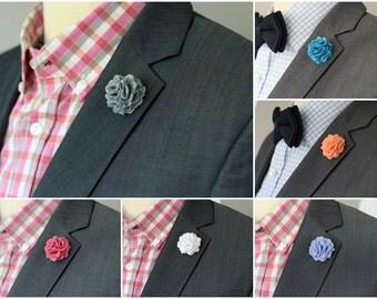 9 Felt Carnation lapel pin, Men's Wool Felt Lapel Flower, lapel boutonniere 1.2 inch or 2 inch