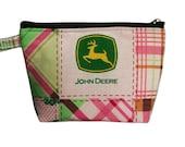 John Deere in Pink Makeup Bag
