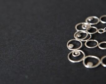 """Sterling silver filigree earrings """" Bubbles"""""""