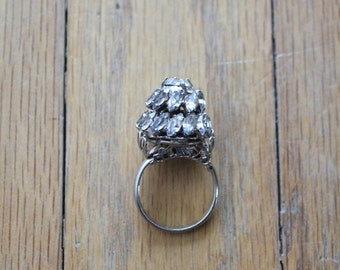 Vintage 50's/60's Rhinestone Dome Cocktail Ring