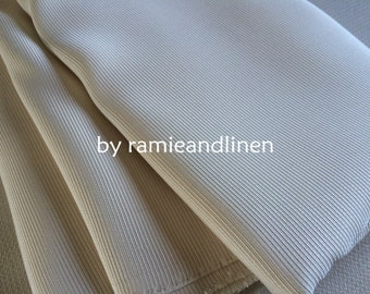 """silk fabric, ribbed silk and cotton blend fabric, ivory, half yard by 45"""" wide"""
