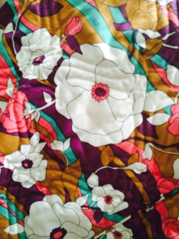 Retro Quilted Bedspread, Fieldcrest, 1970s, Twin Size