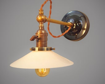 vintage industrial wall sconce pharmacy lamp lamp with glass shade industrial lighting