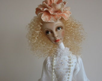 Wedding dolls- Marita Art doll- OOAK doll- Polymer clay doll- Handmade doll- Collecting doll