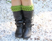 CROCHET PATTERN: Knit-Look Braid Stitch Boot Toppers - Permission to Sell Finished Product