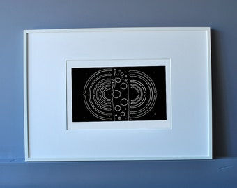 Black and White Portfolio Relief Print Limited Edition Signed (P01)