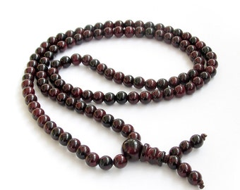 6mm Round Stone 108 Beads Tibet Buddhist Buddha Prayer Stretchy Mala Necklace/Bracelet   ZZ060