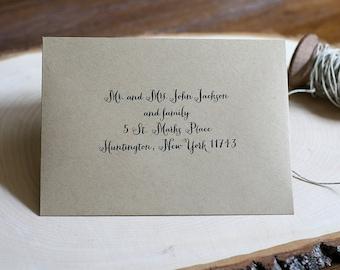 RSVP Envelope Printing - Digital Calligraphy - Modern Fonts