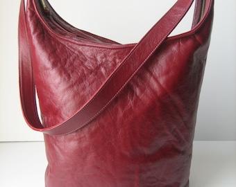 Marsala Leather Hobo