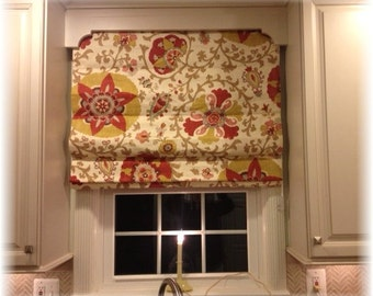 Custom Roman Shades with your fabric 32W x36L