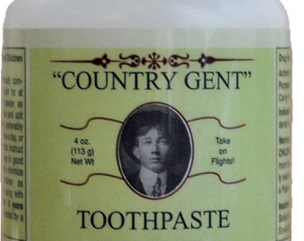 Country Gent Peppermint Tooth Powder with Fluoride - Tooth Paste Alternative