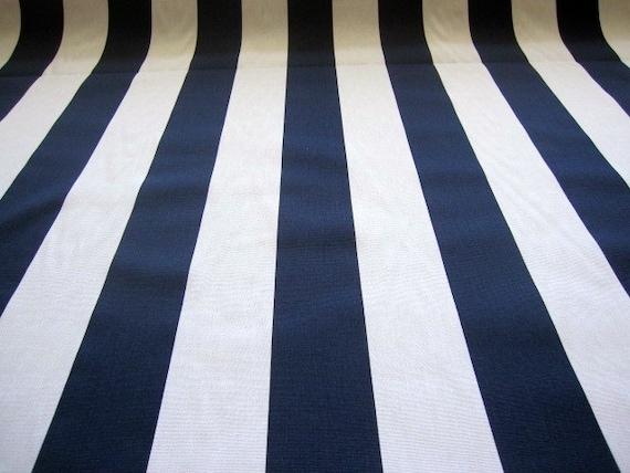 decorator fabric navy blue and white stripe fabric by fabricniche