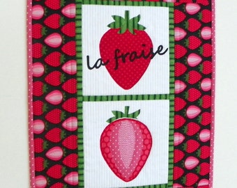 Quilted Wall Hanging - Strawberry Fields