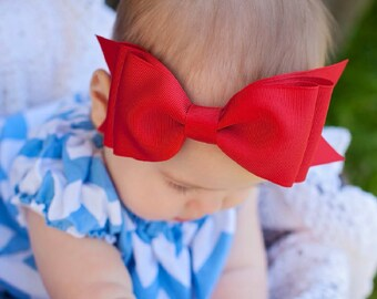 Baby Headband, Set of 8,  XXL Bowtie grosgrain Boutique Baby Headband Bow, ANY COLOR,  Baby Bow Headband, Boutique Headband