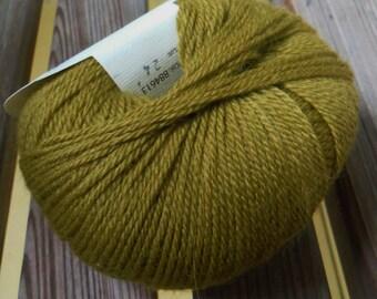 FINGERING Weight Yarn - Italian Wool, Angora, and Silk -  Estelle (Chartreuse #613) - 25g - 132 yards -