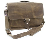"14"" Distressed Tan Newtown Midtown Laptop Bag"