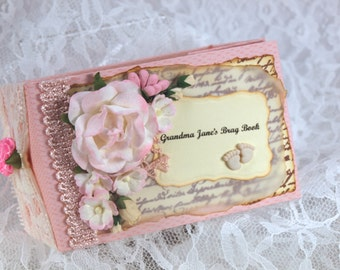 Baby Photo Album, Grandma Brag Book, Baby Memory Book, Cute Baby Girl Scrapbook, TP Mini Album,