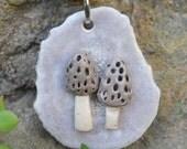 Morel Mushroom Antler Necklace