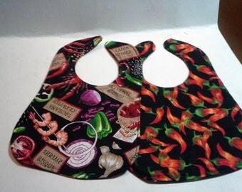 LA Gumbo/ Hot Peppers Baby's Bib