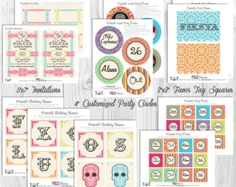 Mexican Fiesta Party Decorations, Printable Party By Cutie Putti Paperie