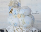 Pincushion - Vintage Inspired with Decorative Pins - Blue
