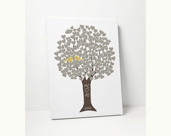Anniversary Gift, Custom Love Tree Canvas Wall Art, Mothers Day Gift, Mother In Law Gift, Personalized Gift for Parents Couples Tree Print