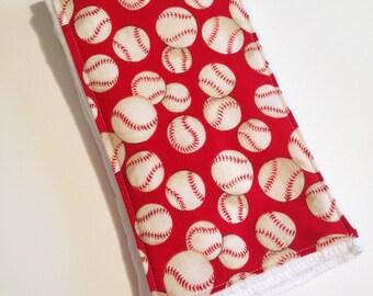 Cloth Diaper Embellished Burp Cloths - Baseball
