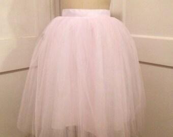 Tulle Bridal Skirt Knee length