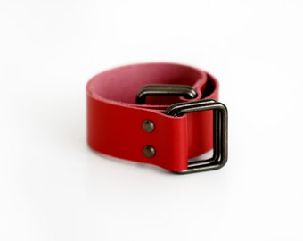 Leather Carry Strap for Furoshiki (Red)