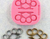 Brass Knuckles Silicone Mold Mould Resin Polymer Clay Jewelry Steampunk (348)