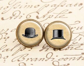 Victorian Hats - Stud Earrings
