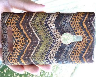 Cool Nokia Lumia 925 Chevron Wood Cork Hard Case Cover